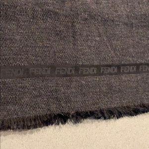 Authentic fendi silk wool scarf shawl